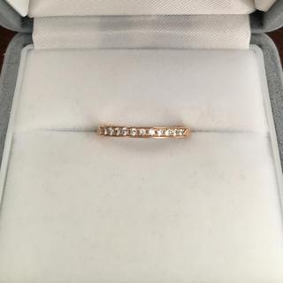ヨンドシー(4℃)の4℃ ダイヤモンド エタニティ リング K18PG 2.1g(リング(指輪))