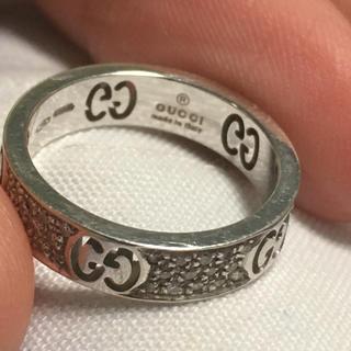 グッチ(Gucci)のGUCCI◆パヴェダイヤ アイコンリング/750/ホワイトゴールド/10号(リング(指輪))