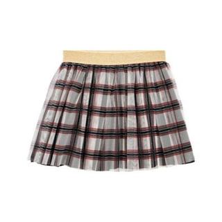プチバトー(PETIT BATEAU)のままさく様専用♡6ans プチバトー チェックチュールスカート(スカート)