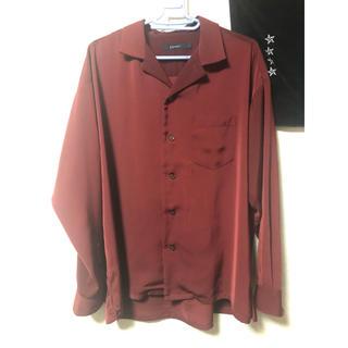 RAGEBLUE - rageblue オープンカラーシャツ ワインレッド