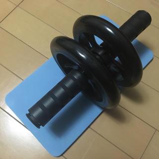 腹筋ローラー マット付き ローラー アブホイール(トレーニング用品)