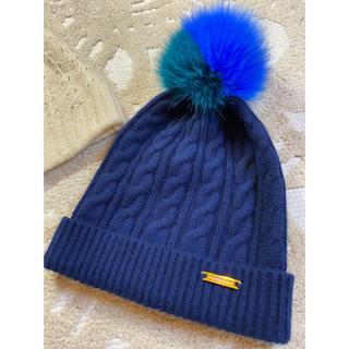 バーバリー(BURBERRY)の美品⭐️本家💖バーバリーウールニット&ラビットぽんぽん帽子(ニット帽/ビーニー)