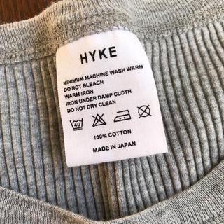 ハイク(HYKE)のHYKE リブカットソー(カットソー(長袖/七分))