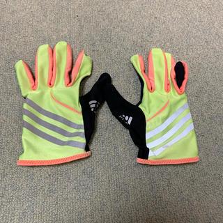アディダス(adidas)の手袋 ランニング adidas メンズmサイズ(手袋)