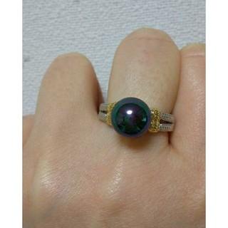 新品 プラチナコーティング パールリング     ヴィンテージ アンティーク(リング(指輪))