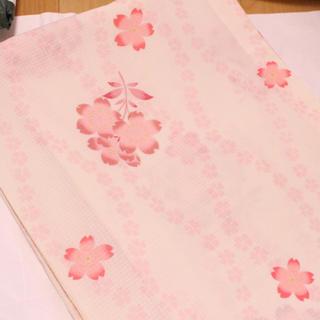 ふりふ - きもの道楽 桜柄 浴衣 単