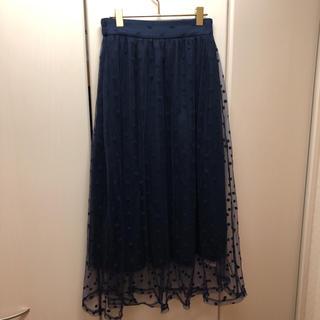 ティティベイト(titivate)のtitivate チュールスカート ロングスカート(ひざ丈スカート)