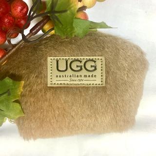 UGG - 【オリジナル】アグ  UGG ファー ポーチ コインケース 本革 キャメル