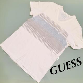 ゲス(GUESS)のセール!GUESS ゲス Tシャツ グレーブルーライン(Tシャツ/カットソー(半袖/袖なし))