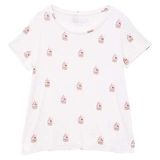 ジェラートピケ(gelato pique)の新品 ジェラートピケ アイスモチーフ Tシャツ オフホワイト(その他)