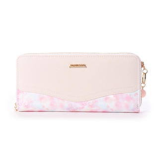 ミッシュマッシュ(MISCH MASCH)の新品 ピンク 長財布 ラウンドファスナー 水彩花柄 ウィン(財布)
