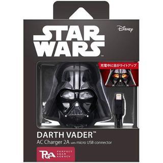 Disney - StarWars microUSBコネクタAC充電器2A ダースベイダー