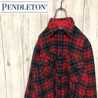 ペンドルトン(PENDLETON)の【希少】USA製 ペンドルトン ウール100% タータンチェック柄シャツ(シャツ)