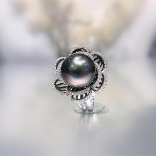 セール品♡タヒチ黒パール指輪(リング(指輪))