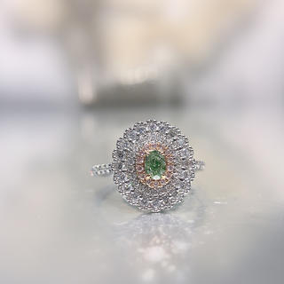 新品小粒グリーンダイヤモンド指輪(リング(指輪))