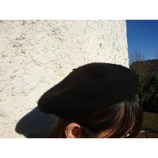 エイチアンドエム(H&M)の冬物セール中!黒 ベレー帽 H&M 古着 レトロ(ハンチング/ベレー帽)