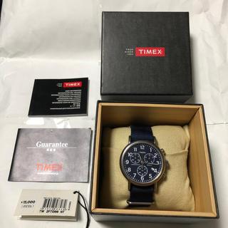 タイメックス(TIMEX)のTIMEX   ウィークエンダー クロノグラフ 【 中古品 】(腕時計(アナログ))