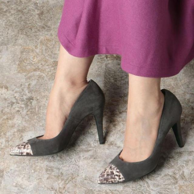 VII XII XXX(セヴントゥエルヴサーティ)の新品 定価22000円 パンプス 22.5〜24.5  ダークグレー系 お値下げ レディースの靴/シューズ(ハイヒール/パンプス)の商品写真