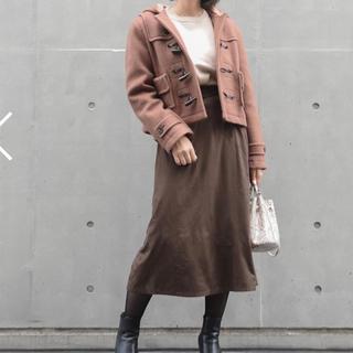 スエードナロースカート ブラウン(ロングスカート)
