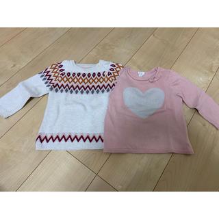 エイチアンドエム(H&M)のH&M ニット セーター 2枚セット 74(ニット/セーター)