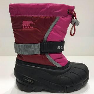 ソレル(SOREL)のぱにゃこ様専用❤︎ SOREL スノーブーツ キッズ  16cm ❤︎(ブーツ)