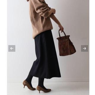 フレームワーク(FRAMeWORK)の【新品タグ付】FRAMeWORK ラップスカート ネイビー サイズ38(ひざ丈スカート)