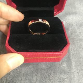 カルティエ(Cartier)のカルティエ リング ダイヤ付き ピンクゴールド(リング(指輪))