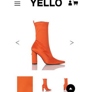 イエローブーツ(Yellow boots)のYELLO  ショートブーツ オレンジ(ブーツ)