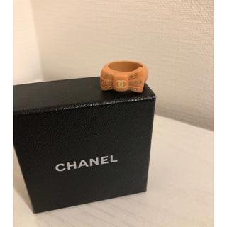 シャネル(CHANEL)のシャネル リング リボンデザイン ピンク 13号(リング(指輪))