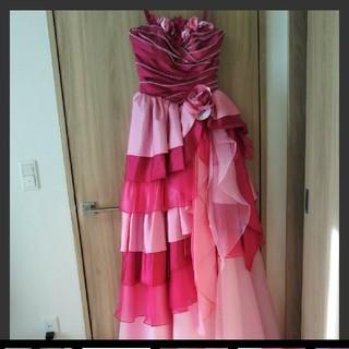 エメ(AIMER)のweddingカラードレスピンク★検エメ、YNS、アトリエアン、Barbie(ウェディングドレス)