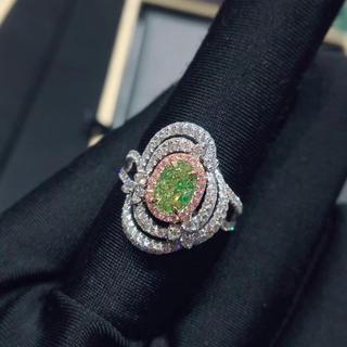 グリーンダイヤモンド ダイヤモンド リング(リング(指輪))