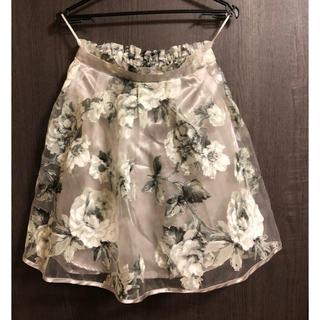 花柄フレアスカート(ミニスカート)
