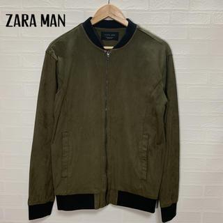 ザラ(ZARA)のZARA MAN ザラ スウェード調 MA-1 サイズM(フライトジャケット)
