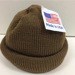 ロスコ(ROTHCO)のロスコニット帽 コヨーテ 新品 ダークベージュ(ニット帽/ビーニー)