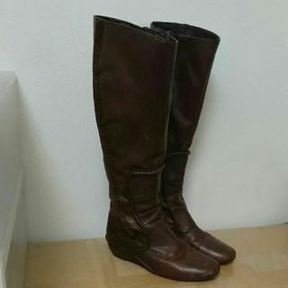 ズッカ(ZUCCa)のZUCCa ロングブーツ brown / Sサイズ(ブーツ)