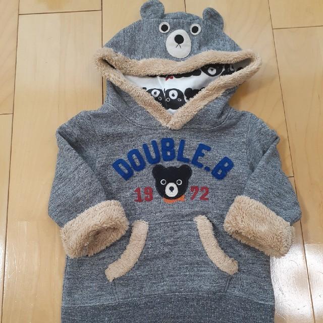DOUBLE.B(ダブルビー)のDOUBLE.B❣️なりきりパーカーsize80 キッズ/ベビー/マタニティのベビー服(~85cm)(トレーナー)の商品写真