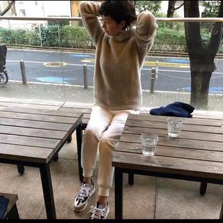 ドゥロワー(Drawer)のクチデザイン  スウェット パンツ ホワイト 白 M 田丸麻紀(カジュアルパンツ)