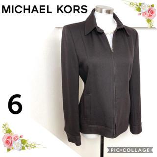 マイケルコース(Michael Kors)のマイケルコース(サイズ 6)ダークブラウンの大人のブルゾンアウター(ブルゾン)