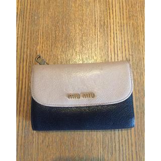 miumiu - miumiu3つ折り財布