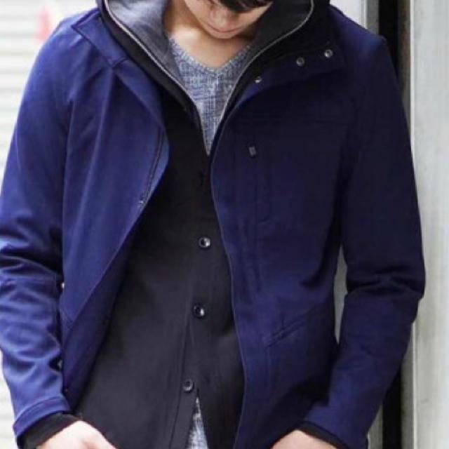 MK MICHEL KLEIN(エムケーミッシェルクラン)のフードミリタリーブルゾン/カチーナWクロス メンズのジャケット/アウター(ブルゾン)の商品写真