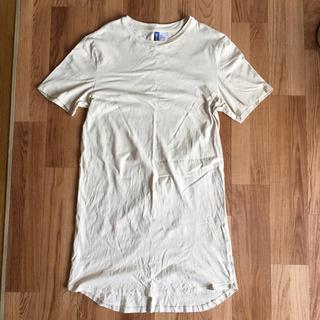 エイチアンドエム(H&M)のH&M ロング丈Tシャツ(S)(Tシャツ/カットソー(半袖/袖なし))