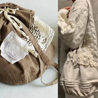 サマンサモスモス(SM2)の【美品】tsuharu 3周年 アンティークレース巾着バッグ (ショルダーバッグ)