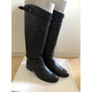 オゥバニスター(AU BANNISTER)のロングブーツ ブラック 黒(ブーツ)