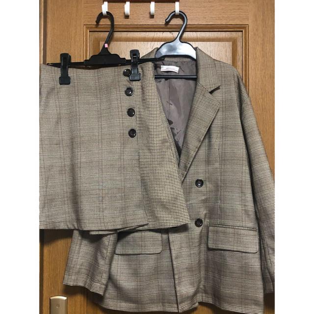 しまむら(シマムラ)のチェック テーラードジャケット セットアップ しまむら レディースのジャケット/アウター(テーラードジャケット)の商品写真