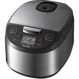 シャープ(SHARP)のシャープ SHARP KS-S10J 炊飯器 黒厚釜&球面炊き シルバー(炊飯器)