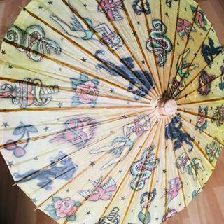 トラディショナル オールドスクール タトゥー TATTOO 日傘 インテリア(傘)