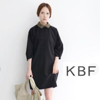 ケービーエフ(KBF)のKBFつけ襟ワンピース(ワンピース)