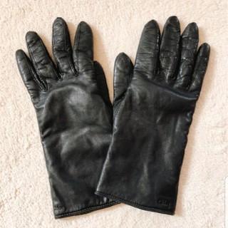 クロエ(Chloe)のChloe 手袋 レザー 本革 黒 19㎝ クロエ(手袋)