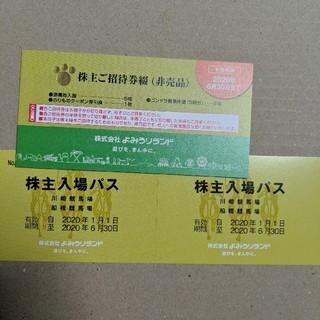 よみうりランド株主優待券1冊(遊園地/テーマパーク)