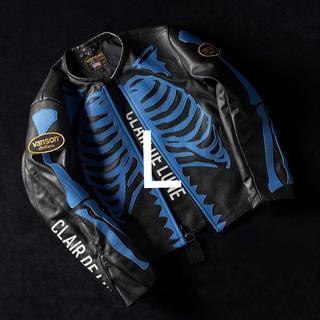 バンソン(VANSON)のCLAIR DE LUNE × VANSON Leather Jacket L(レザージャケット)